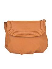Ochre Faux Leather Sling Bag - Caprese