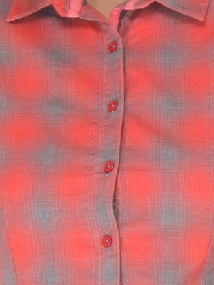 red cotton shirt - 10838350 - Standard Image - 4