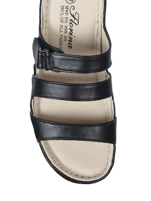 0b695510ae6f4 Buy Black Leatherette Sandals for Women from Florina By Action Shoes for  ₹999 at 0% off   2019 Limeroad.com