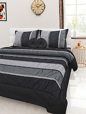 Monochrome striped quilt set of 5 -  online shopping for Quilts and comforters