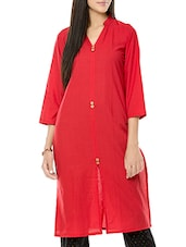 Red South Cotton Kurta - By