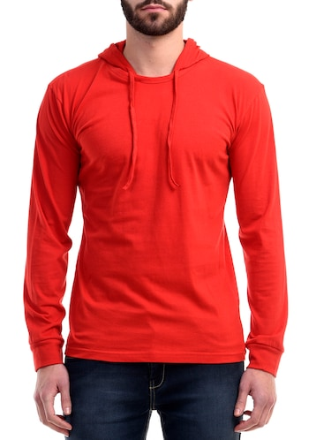 red cotton t-shirt - 10853664 - Standard Image - 1
