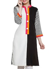 Black Summer Crepe Kurta - By