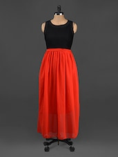 Sleeveless Colour Block Maxi Dress - CINDRELLA