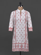 Quarter Sleeve Block Printed Kurta - Aamii