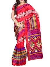 Printed Bhagalpuri Silk Saree - Ambaji