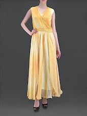 Ombre Yellow Maxi Dress With Sequined Waist - MARMALADE