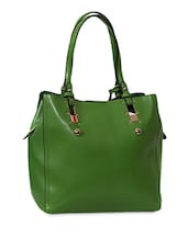 Green Faux Leather Tote - Carry On Bags