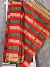 Striped Zari Woven Kota Saree - Shiva Saree