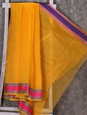 Ganga Jamuna Border Yellow Kota Saree - Shiva Saree