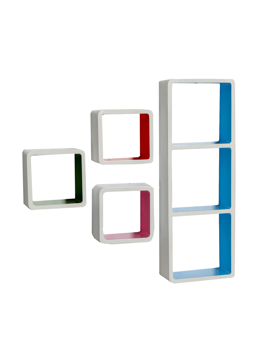 buy multicolor square box shape wall shelves by tayhaa online