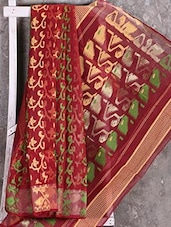 Multicolor Woven Taant Saree - Shiva Saree