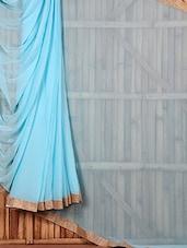 Light Blue Chiffon Saree - Saree Street
