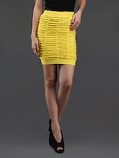 Yellow Gathered Pencil Skirt Cum Tube Top - N-Gal