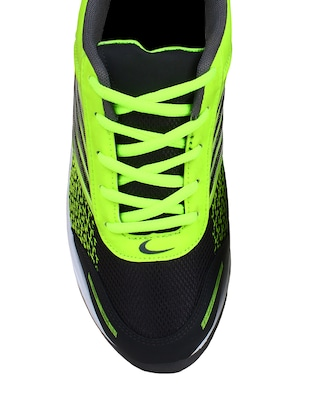 green leatherette sport shoes - 10902067 - Standard Image - 4