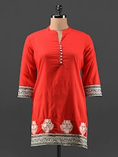 Quarter Sleeve Short Cotton Kurta - KAJJALI