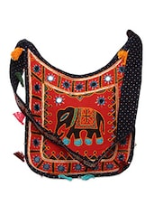 Mirror Work Embroidered Sling Bag - Yufta