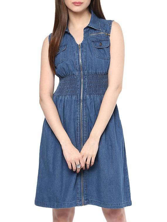 9156e250e66 Buy Blue Denim Dress for Women from Stylestone for ₹726 at 48% off ...