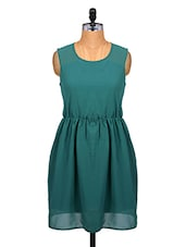 Teal Sleeveless Dress With Cut-out Detailing - Alibi