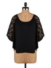 Deep Neck Lace Sleeve Top - Amari West