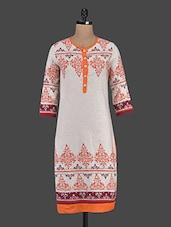 Cotton Button Down Round Neck Kurta - Inara Robes