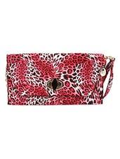 Animal Print Leatherette Sling Bag - Kleio
