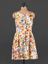 Multicolored Floral Fit & Flare Dress - Femenino