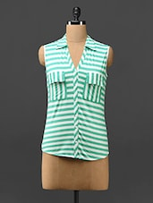 Striped Sleeveless Viscose Top - Trend Arrest