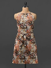 Multicolored Printed Polyester Dress - Trend Arrest