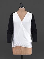 Overlapping Black & White Long Sleeve Top - OSHEA