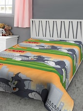 Tom And Jerry Print Reversible Single Dohar - Furry
