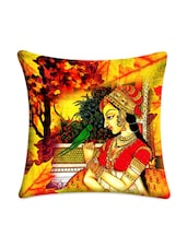 Multicolored Digital Printed Lady Cushion Cover - Mesleep