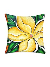 Yellow Floral Digital Printed Cushion Cover - Mesleep