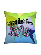 Happy New Year 2015 Printed Satin Cushion Cover - Mesleep