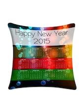 Happy New Year Calendar Printed Cushion Cover - Mesleep