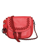 Red Pure Leather Sling Bag - Phive Rivers
