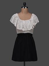 Polka Dot Monochrome Dress - Color Fuel