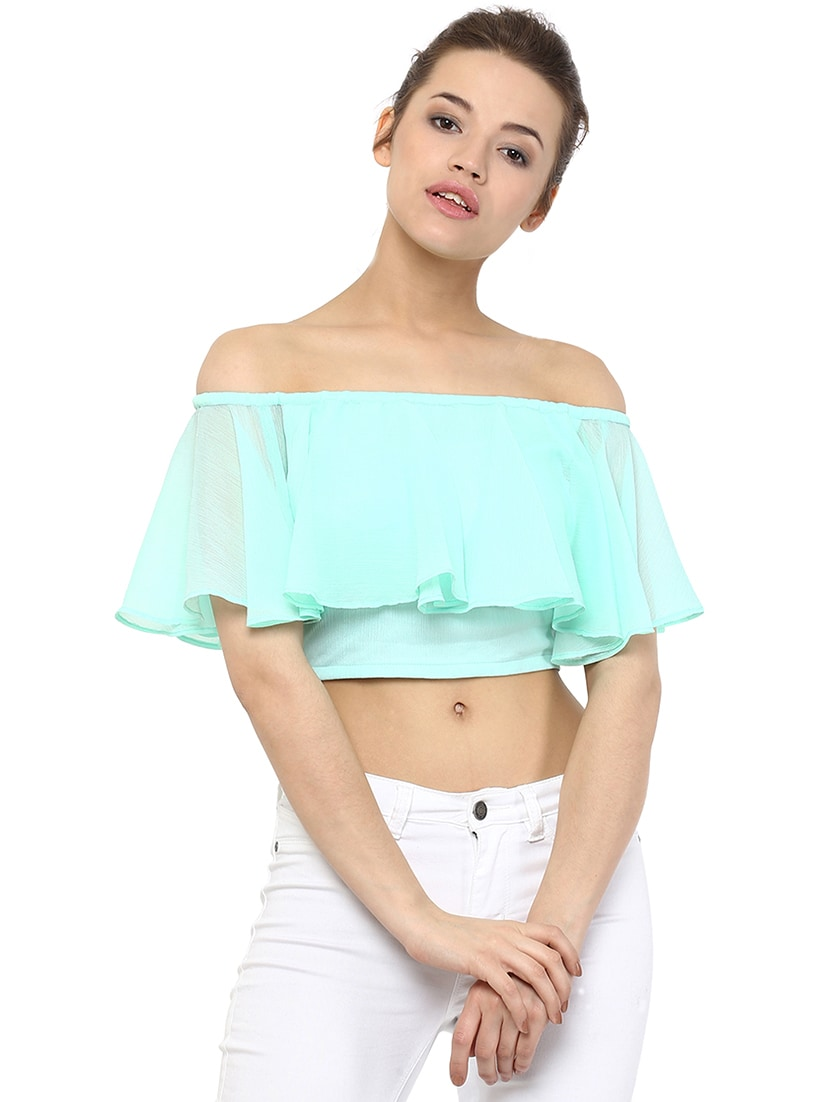 8e4aa093b8141 Buy Off Shoulder Ruffled Crop Top for Women from Miss Chase for ₹660 at 37%  off