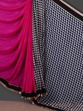 Geometric Print Half & Half Saree - Saara