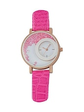 Dream Villa Pink Leather watch for women -  online shopping for Analog watches