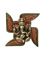 Wall Hanging Ganesha Placed on Swastik -  online shopping for Wall Hanging