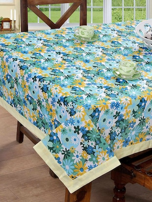 Bsb Trendz Cotton Floral Printed Table Cover -  online shopping for Table Cloths