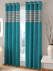 BSB TRENDZ EYELET AQUA DOOR CURTAIN SET OF 2 P-129 - By