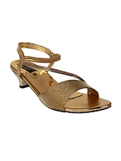 gold leatherette heels -  online shopping for heels