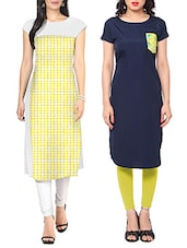 Multi faux crepe kurta set of 2 -  online shopping for kurtas