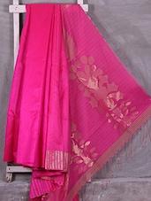 Pink Zari Woven Matka Silk Saree - Ruplekha Fashion