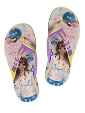 Cartoon Character Printed Flip Flops - ZACHHO