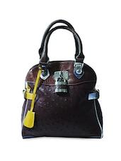Crock Skin Patterned Hand Bag - Elligator