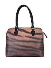 Animal Skin Printed Laptop Handbag - AVX