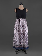 Elastic Waist Georgette Maxi Dress - G&M Collections
